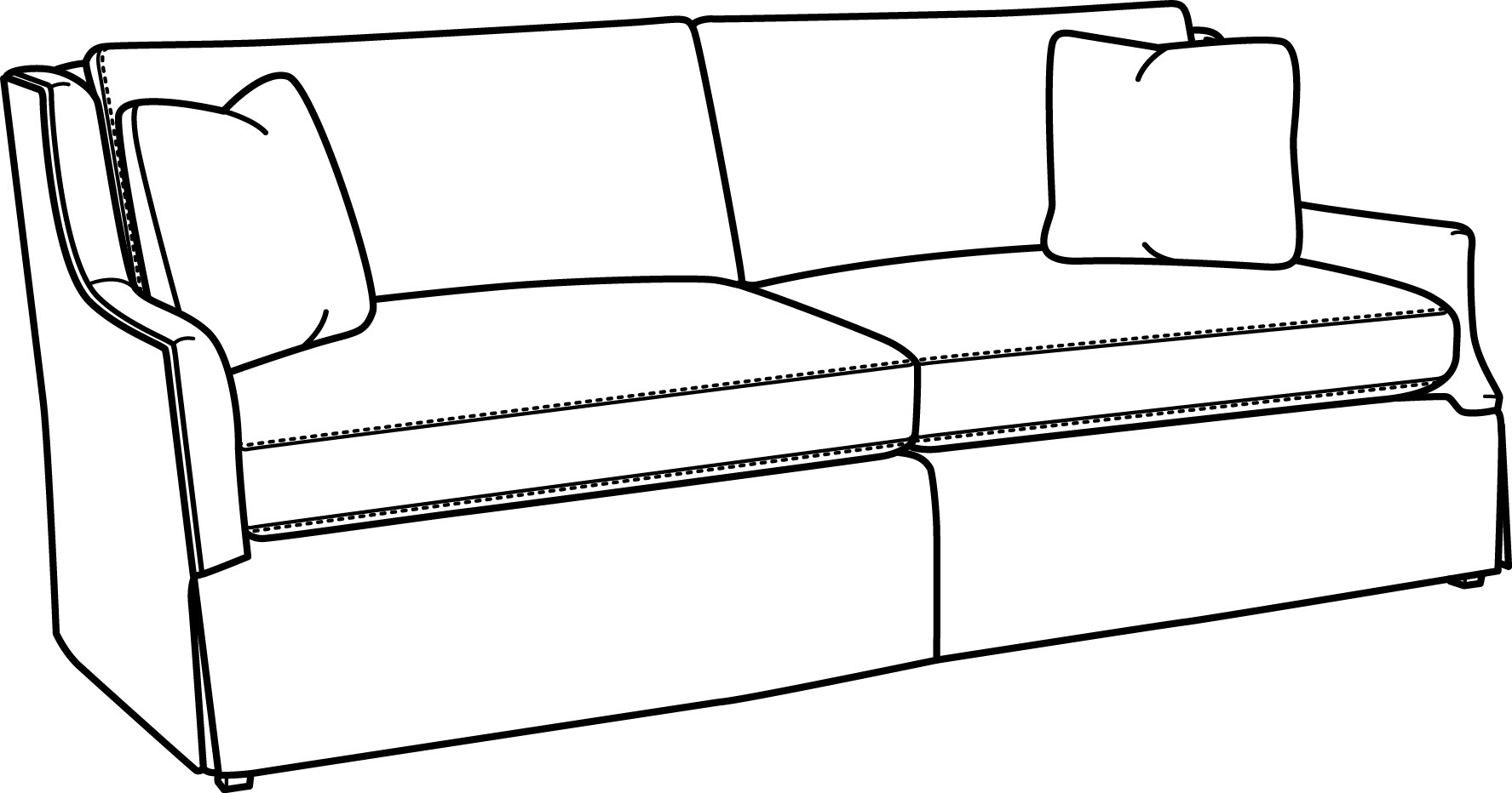 Sofa x free clip. Couch clipart line art