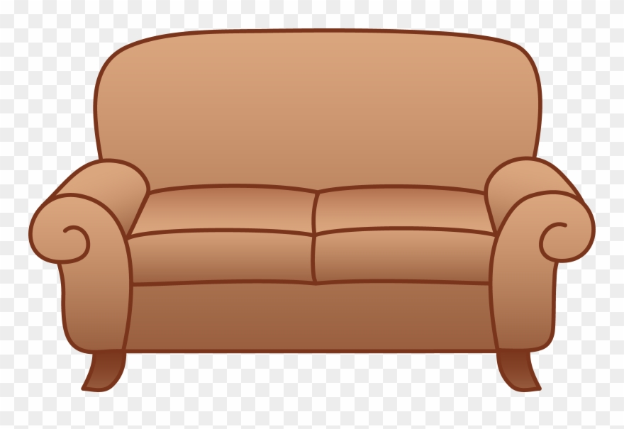Couch clipart lounge chair. Beige living room sofa