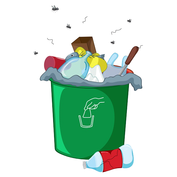 Couch clipart messy. Waste container odor landfill