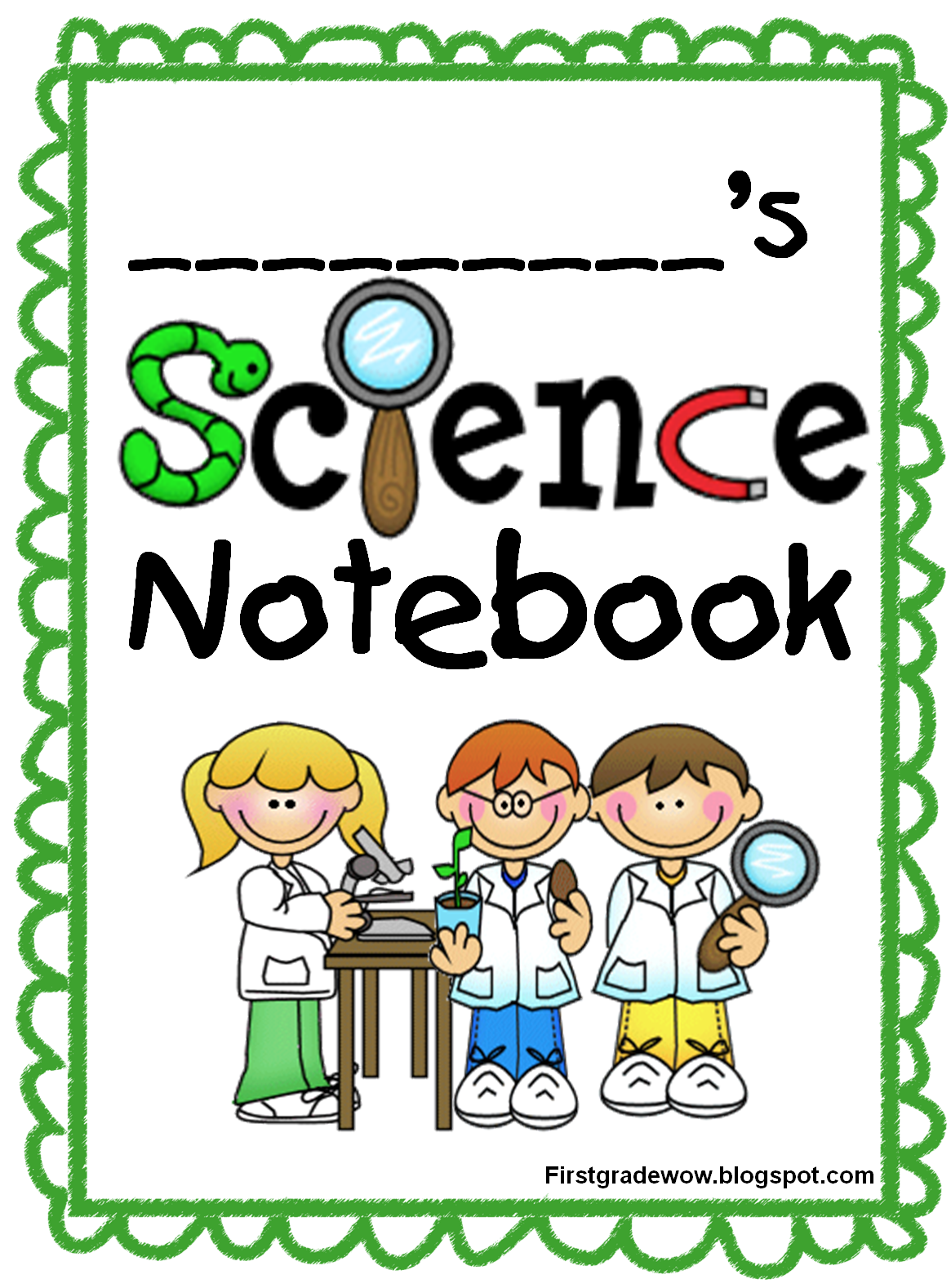Notebook clipart scince. First grade wow science