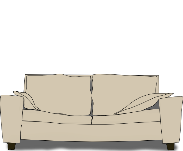 Couch clipart old couch. Clip art at clker