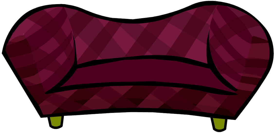 Burgundy club penguin wiki. Couch clipart pink couch