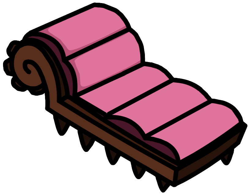 Couch clipart pink couch. Image monster lounge chair
