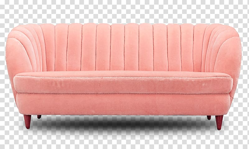 Beige suede loveseat sofa. Couch clipart pink couch