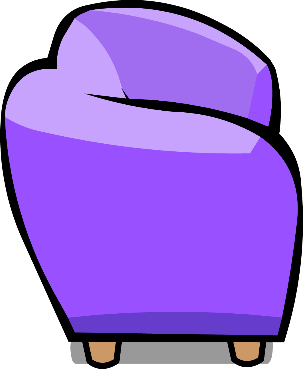 Couch clipart purple couch. Image sprite png club