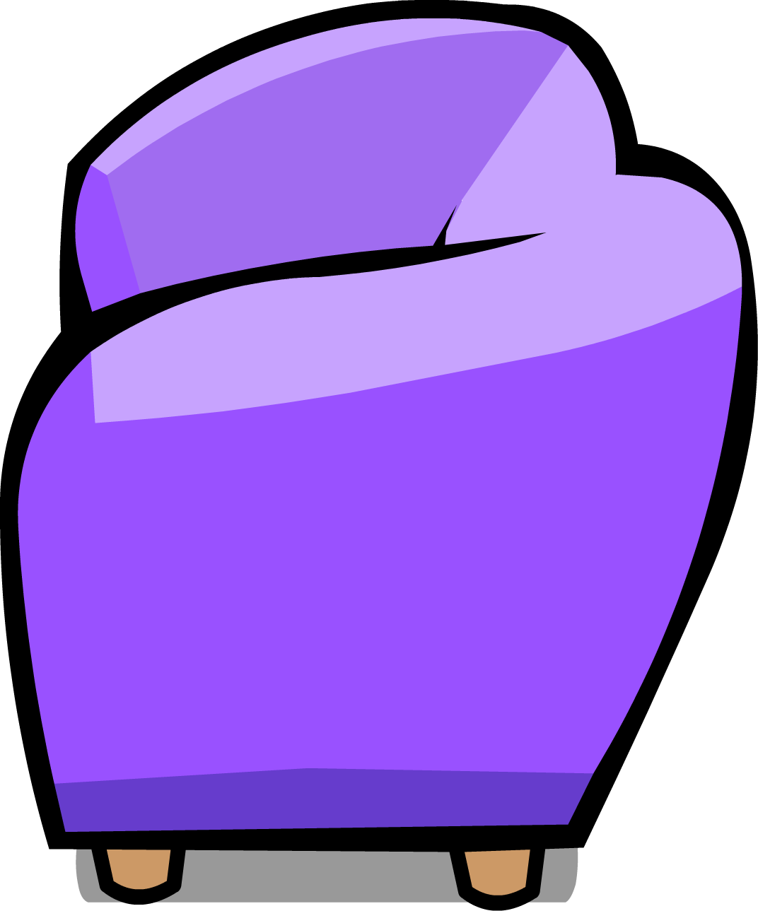 Image sprite png club. Couch clipart purple couch