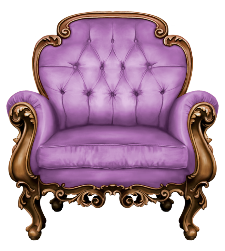 Lily in the night. Couch clipart purple couch