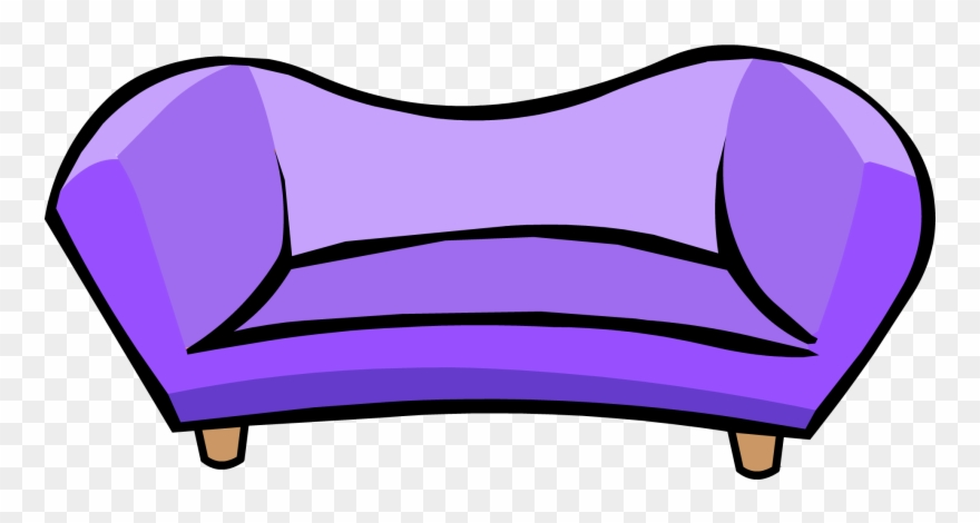 Couch clipart purple couch. Png club penguin