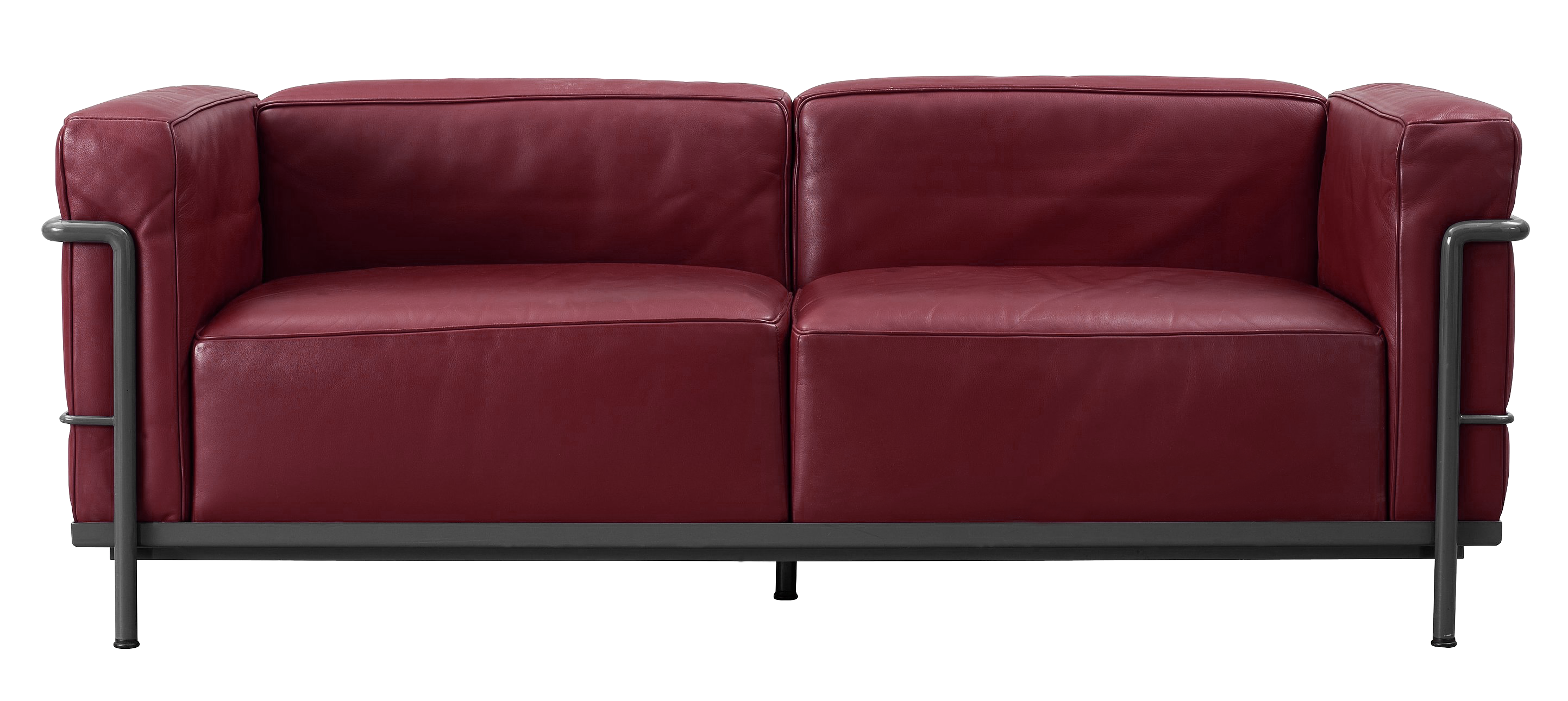 Leather lobby png picture. Furniture clipart red couch