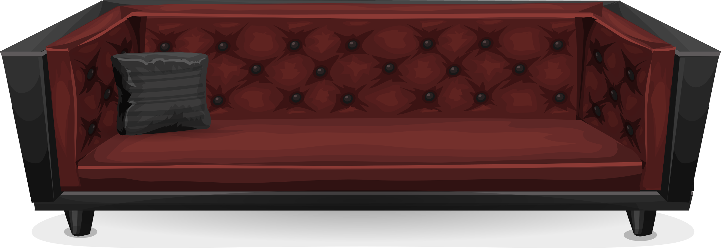 Dark sofa from glitch. Furniture clipart red couch