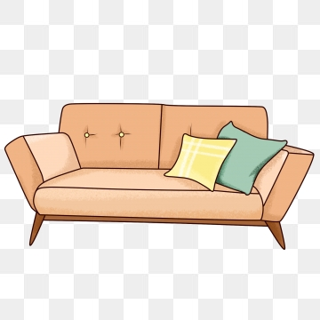 Sofa png vector psd. Furniture clipart sala set
