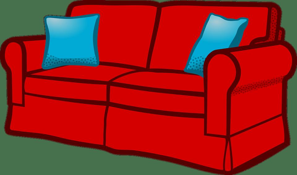 Furniture clipart sala set. Sofa functionalities net vector