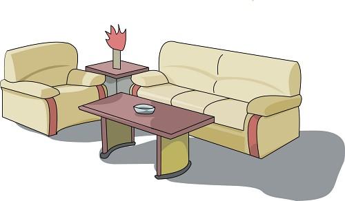 Sofa clip art panda. Furniture clipart sala set