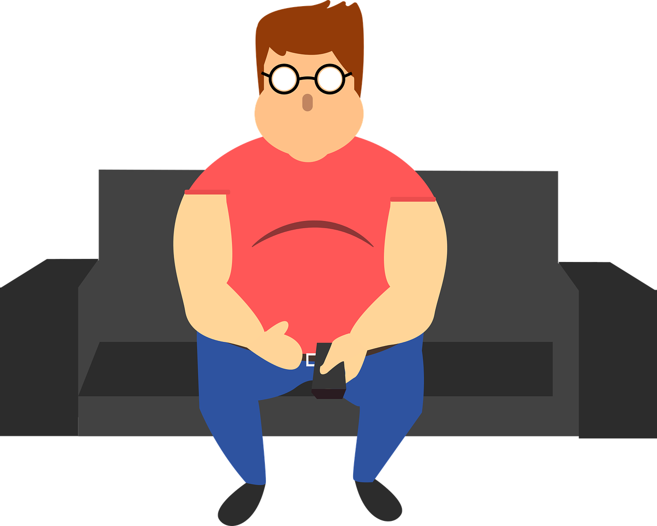 Lifestyle obesity health overweight. Couch clipart sedentary