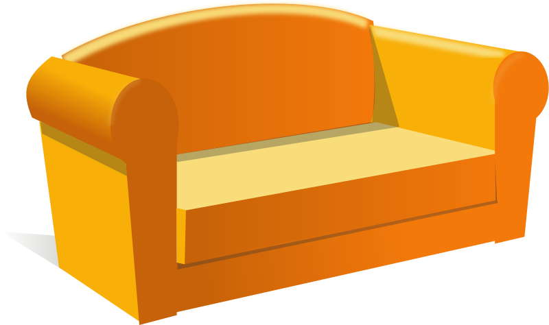 collection of furniture. Couch clipart side view