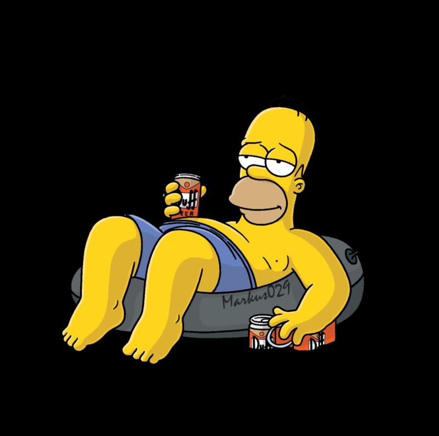 Homer simpson summer render. Donuts clipart simpsons donut