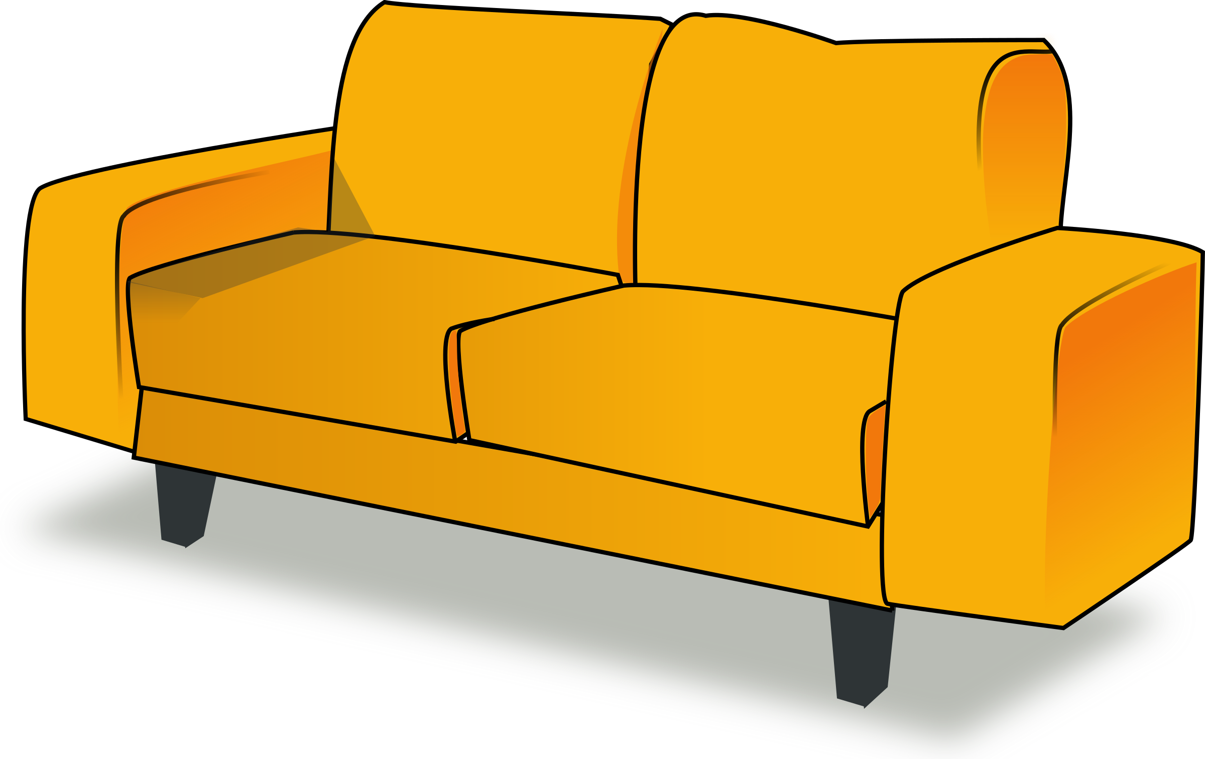 Couch clipart single person. Sofa tandem icons png