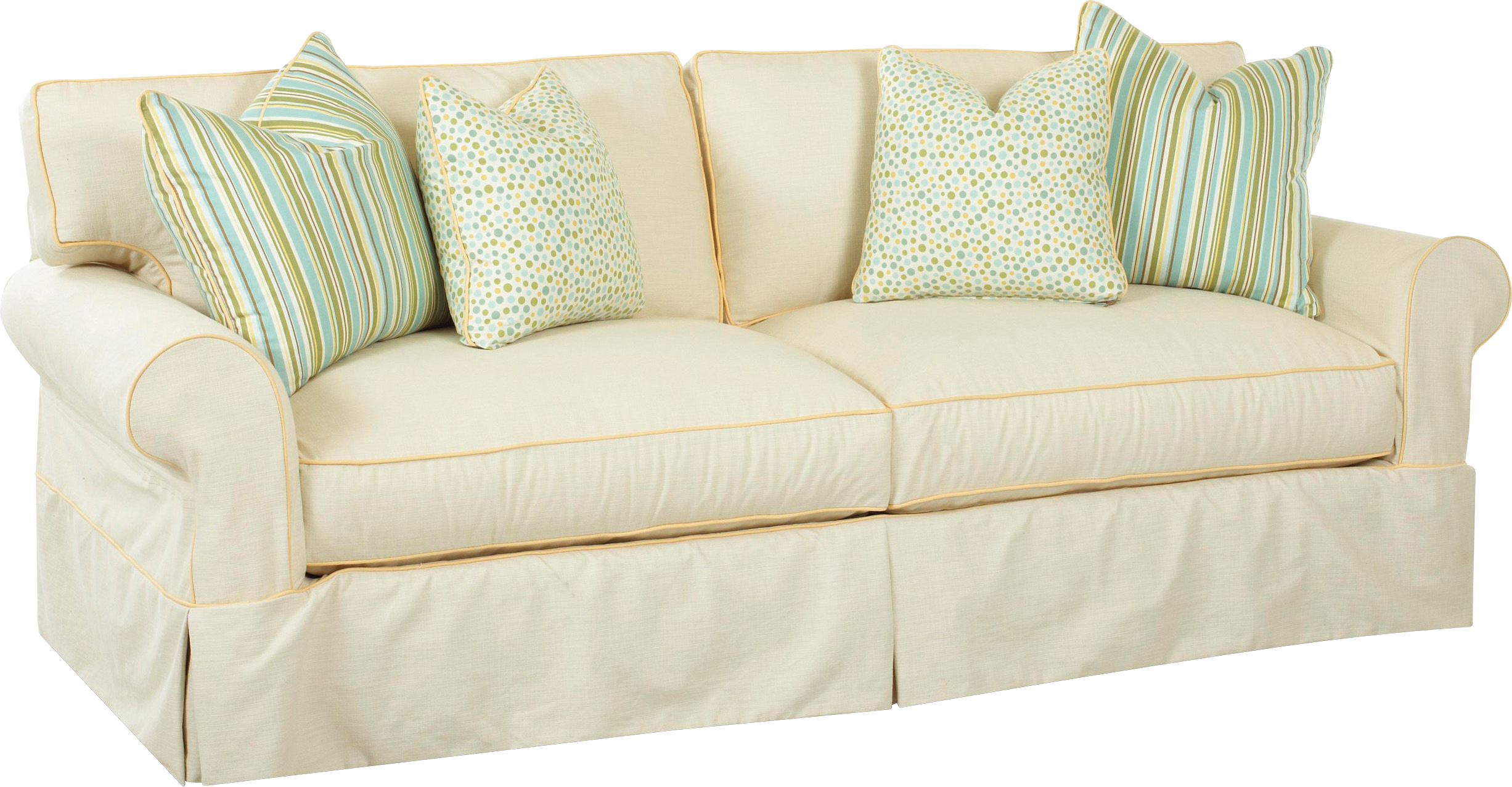 White sofa png image. Couch clipart sketch