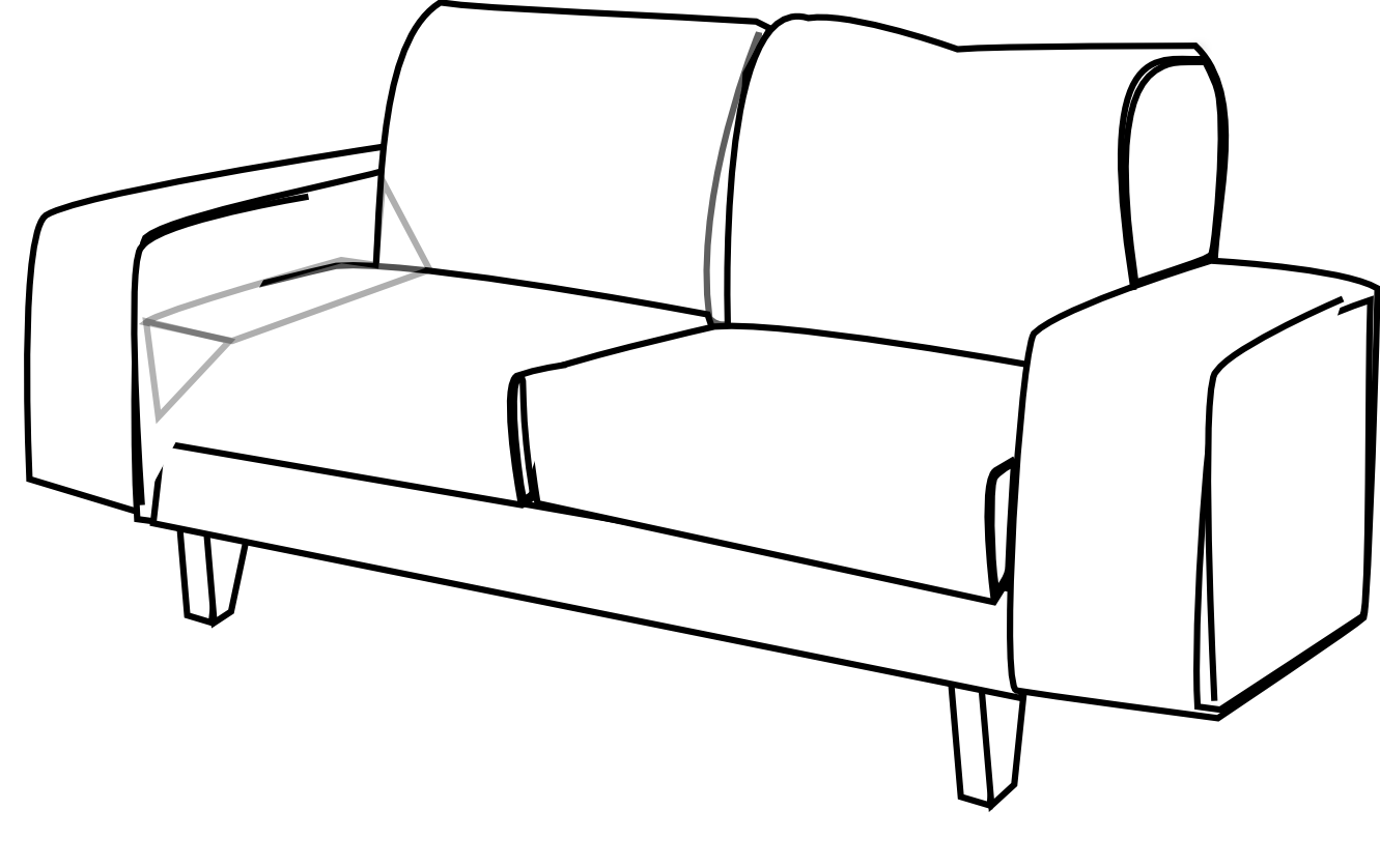 Clip art free panda. Couch clipart sketch