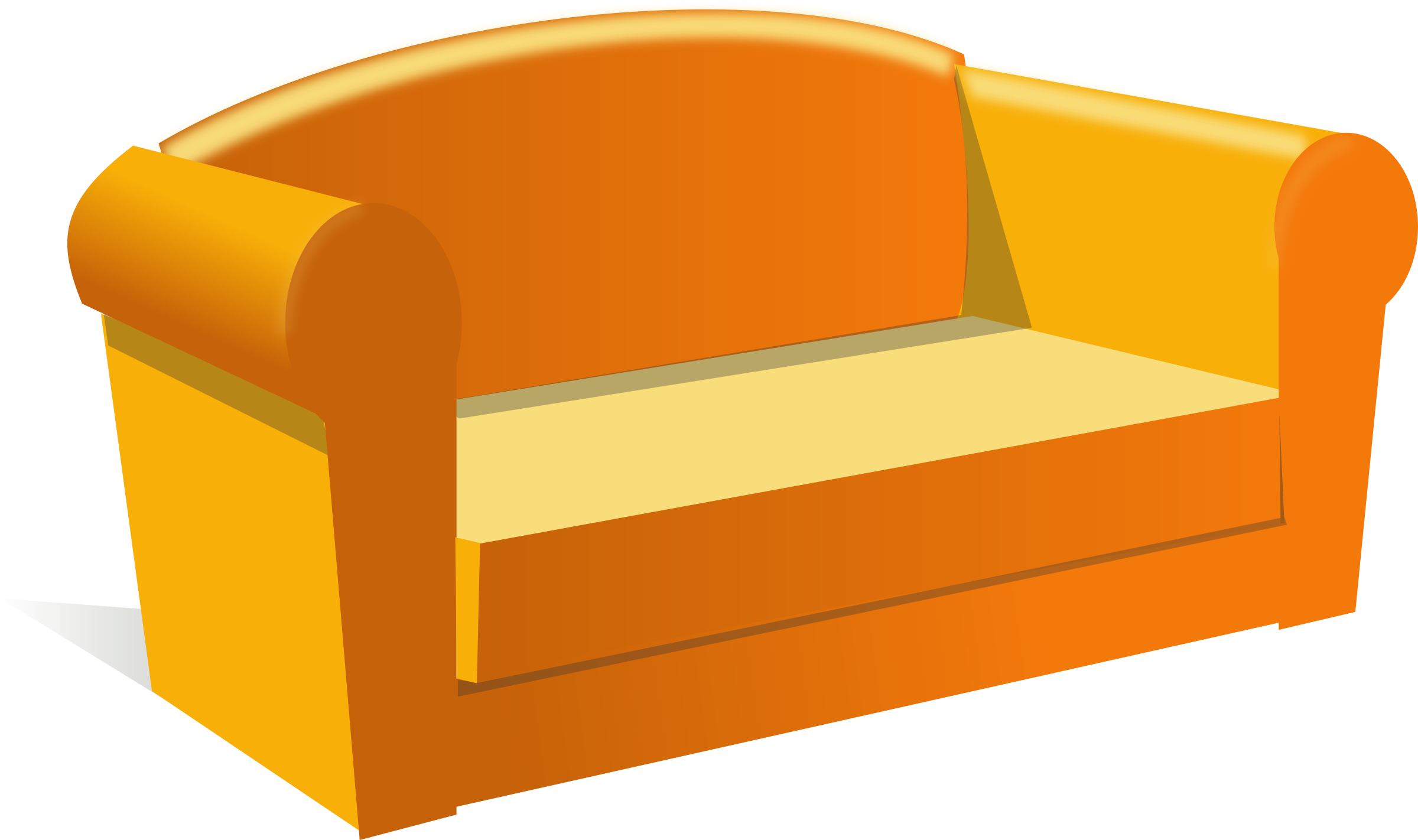 Couch clipart small. Sofa big image png