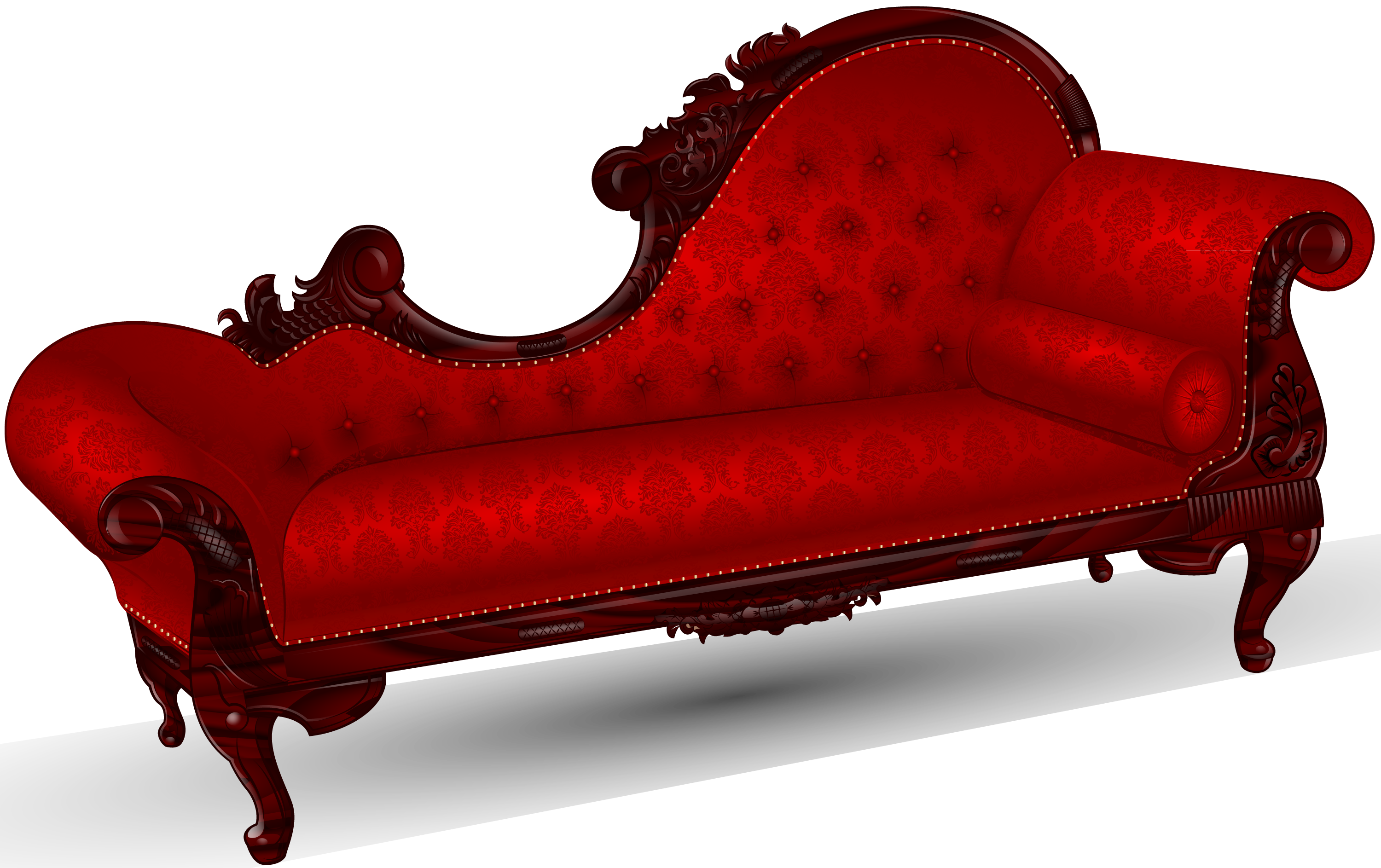 Victorian fainting by sircle. Furniture clipart single couch