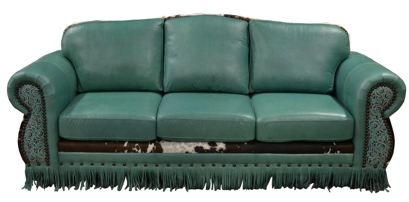 Rustic cowhide sofas couches. Couch clipart sofa
