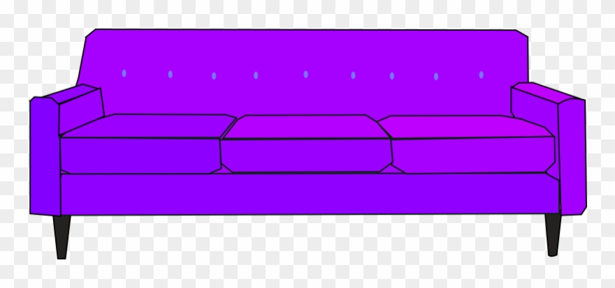 Couch clipart sofa. Purple clip art png