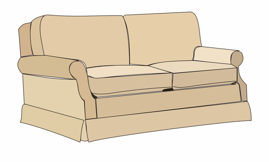 Furniture transparent png . Couch clipart sofa