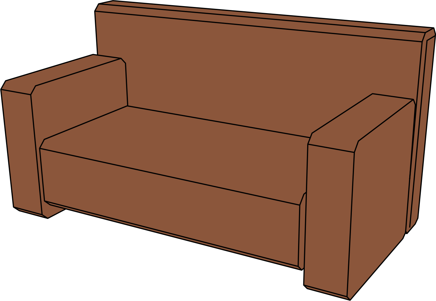 Sofa perspective icons png. Couch clipart svg