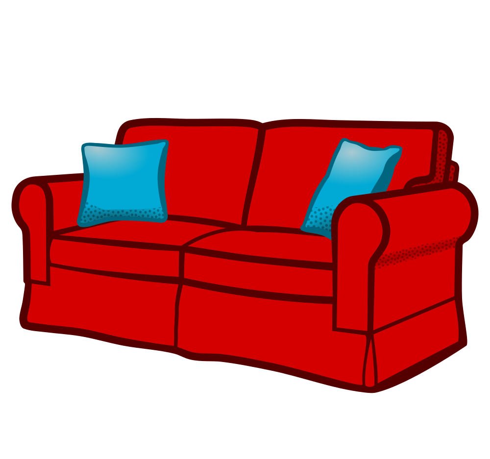 Couch clipart svg. Onlinelabels clip art sofa