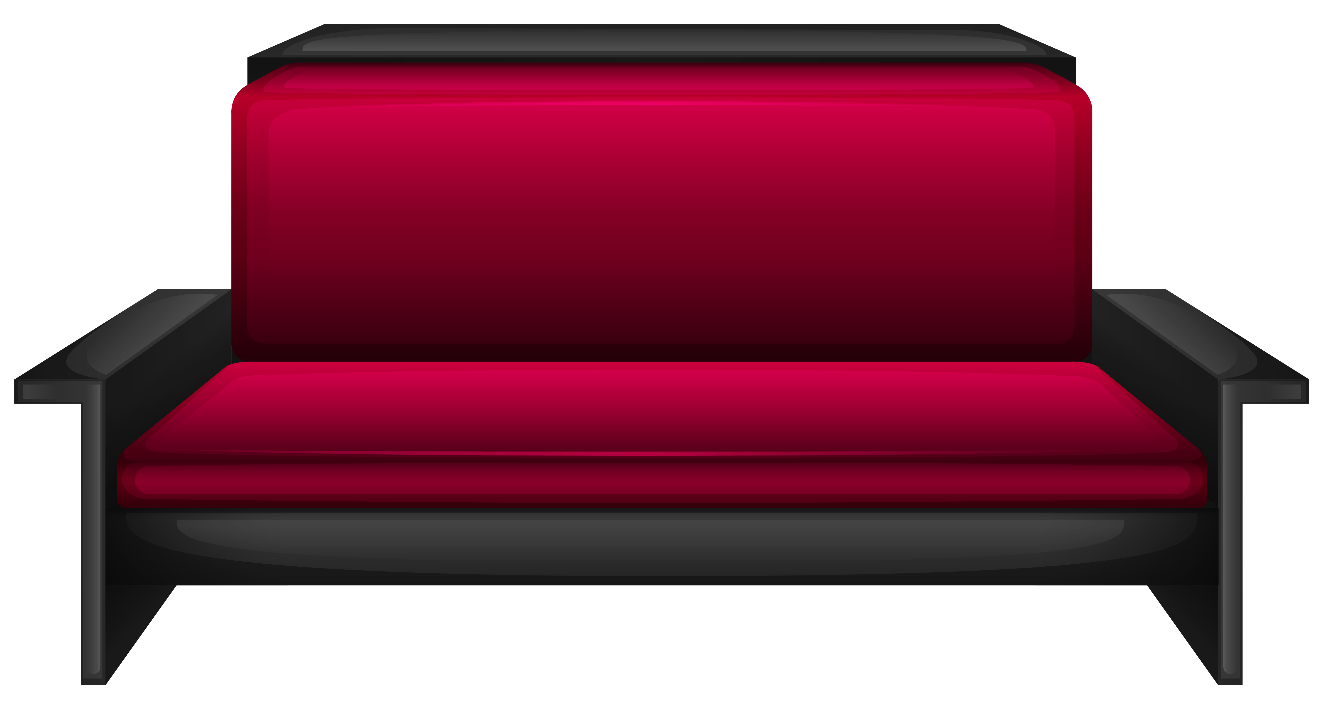 Modern red sofa png. Furniture clipart couch