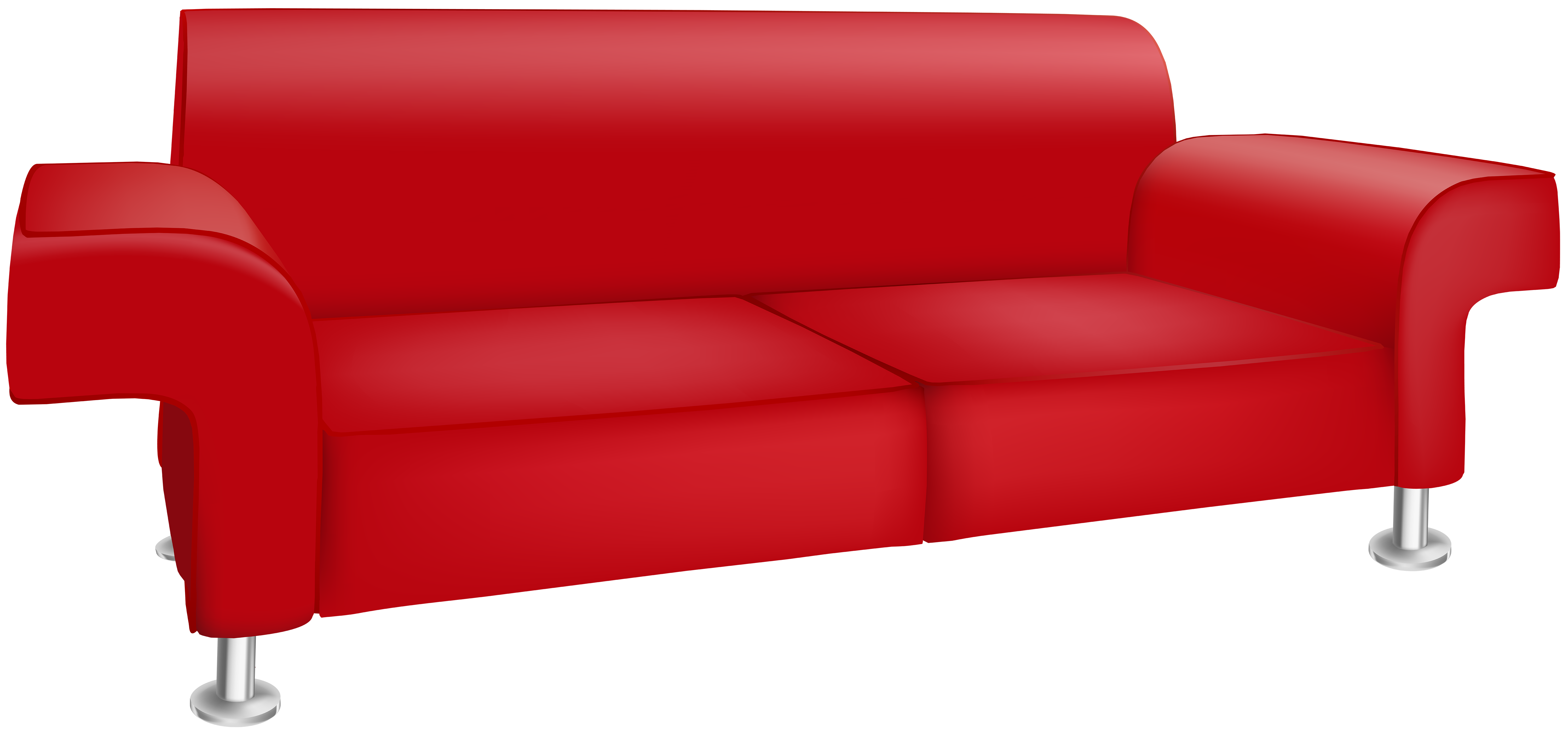 Furniture clipart red couch. Sofa bed table chair