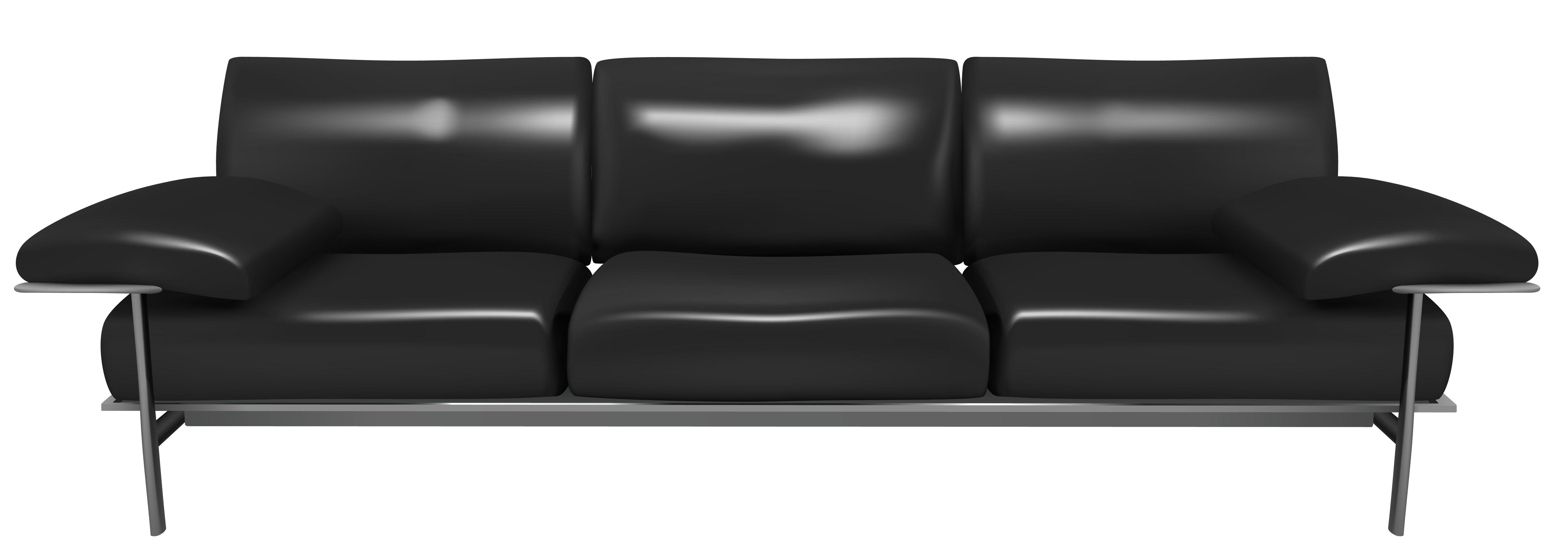 Furniture clipart couch. Transparent black png gallery