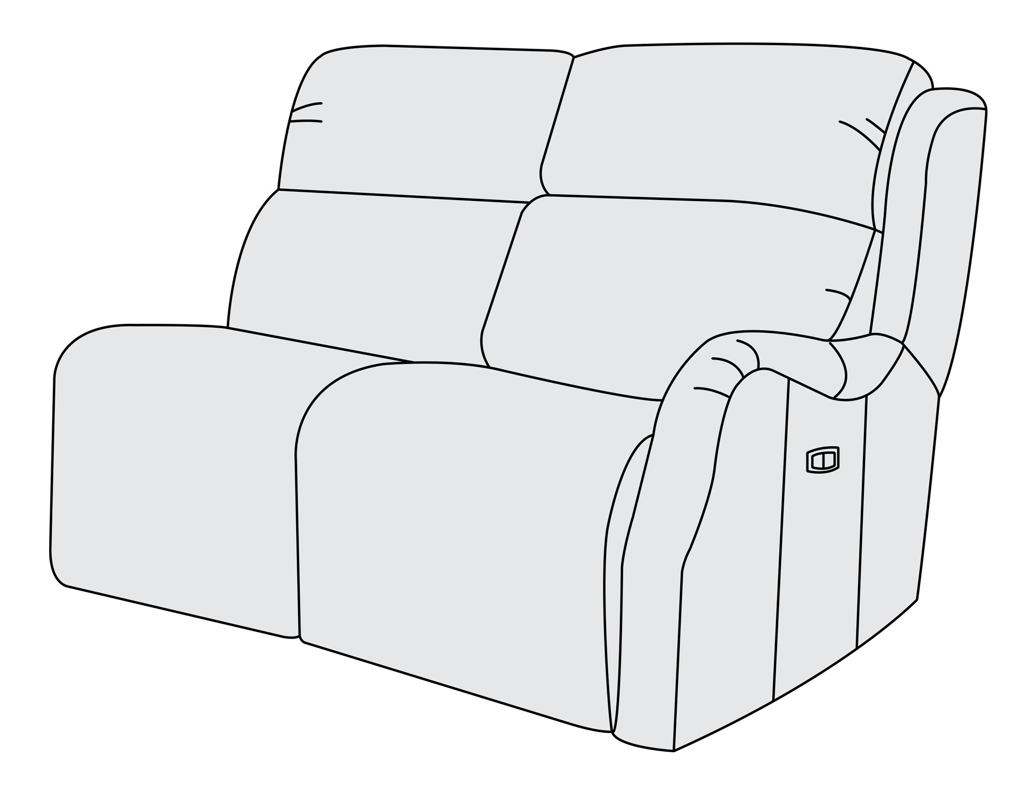 Right arm power motion. Couch clipart upholstery