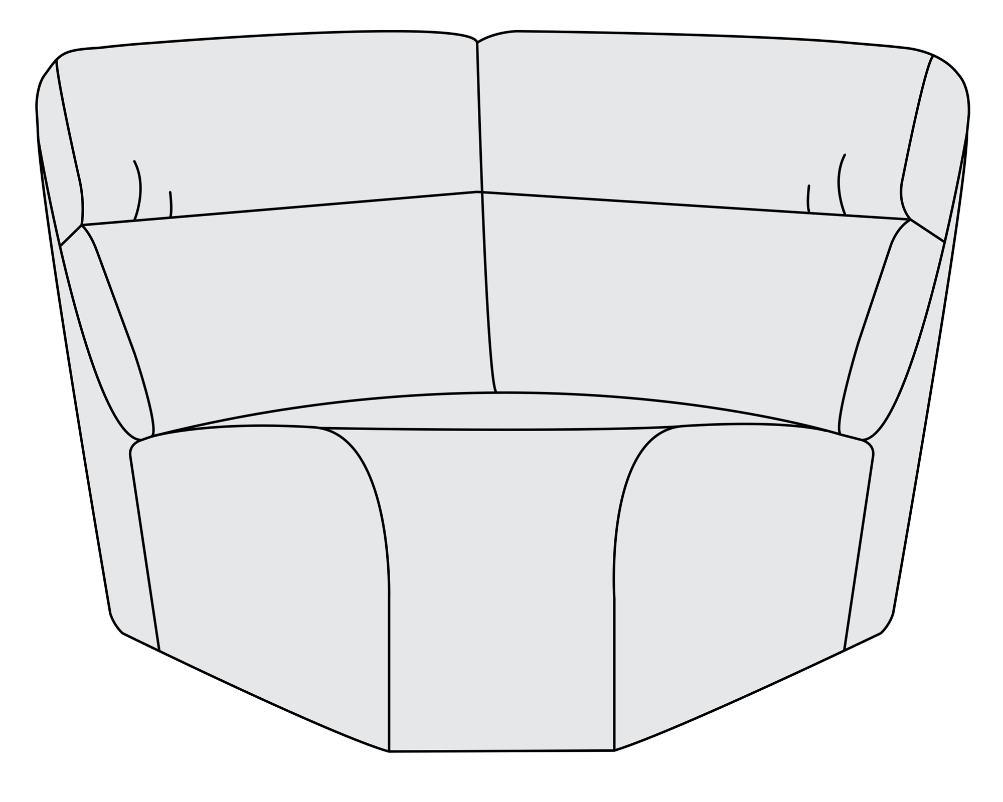 Wedge bernhardt . Couch clipart upholstery