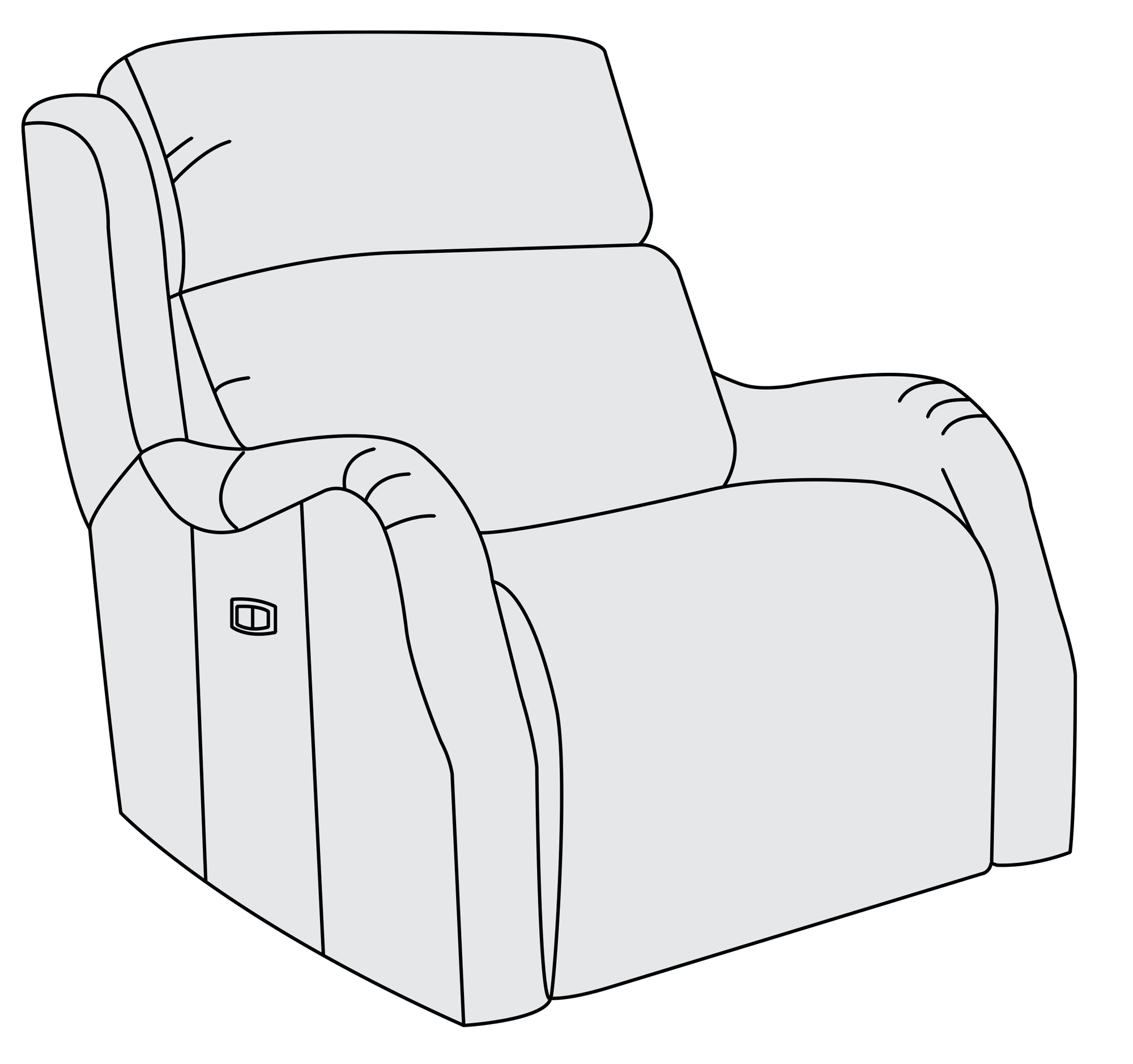Couch clipart upholstery. Power motion chair bernhardt