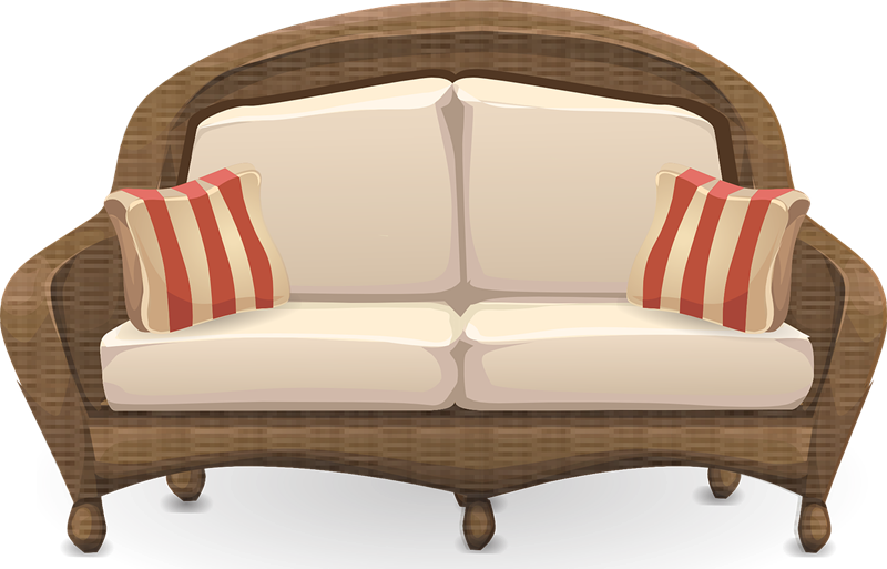 Couch wooden sofa