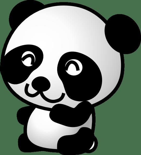 Cougar clipart animated. Cartoon panda face gallery