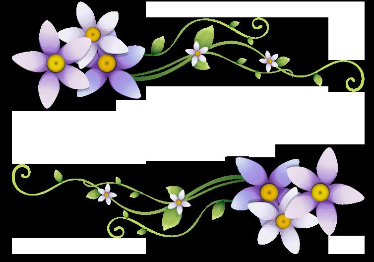 Floral clipart divider. Flores ilustraciones en png