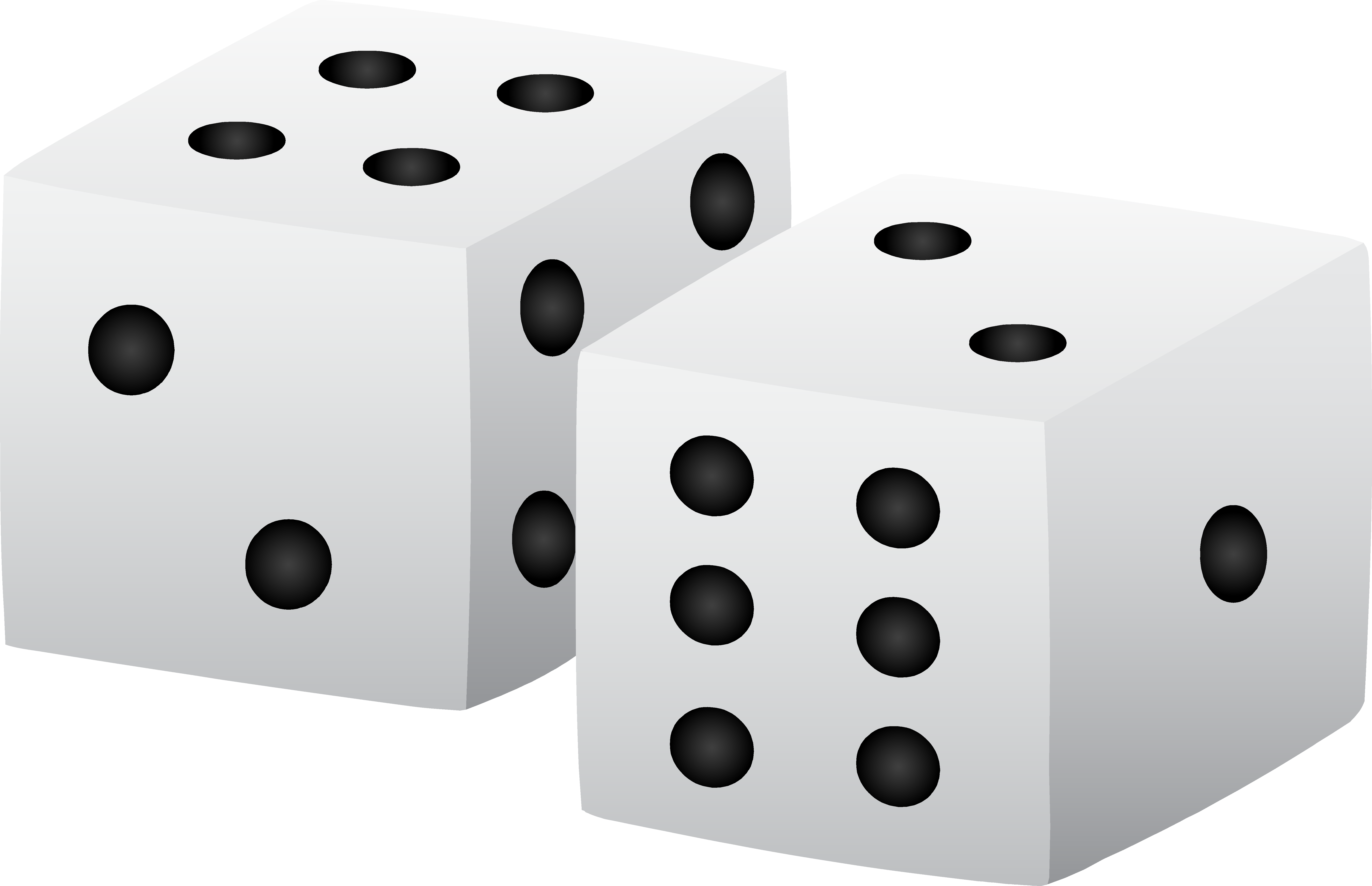 Dice hard object graphics. Square clipart solid