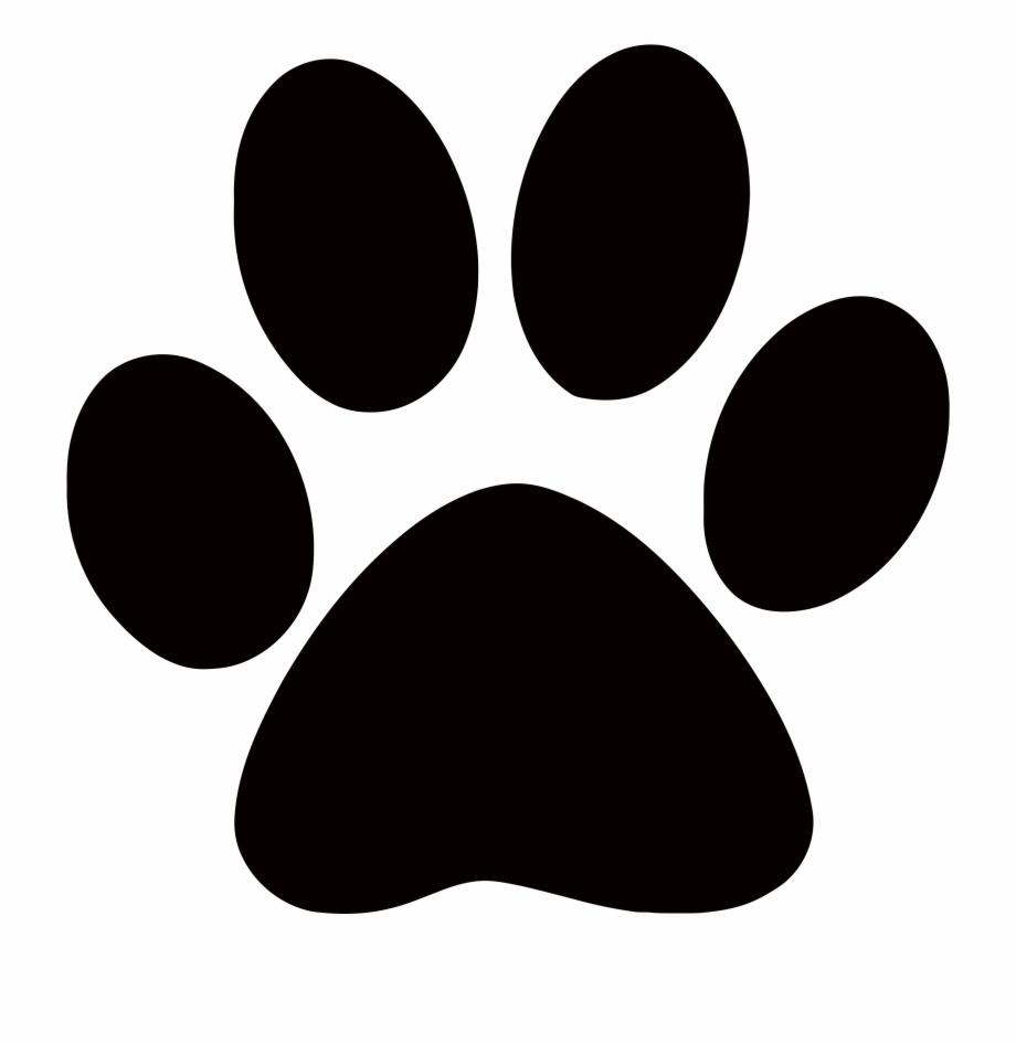 Paw clipart transparent background. Footprints cougar dog
