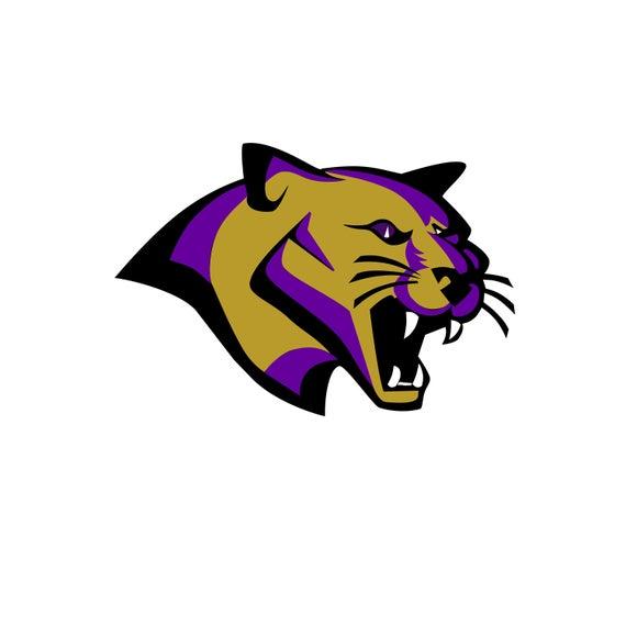 Mascot silhouette and cricut. Cougar clipart high quality