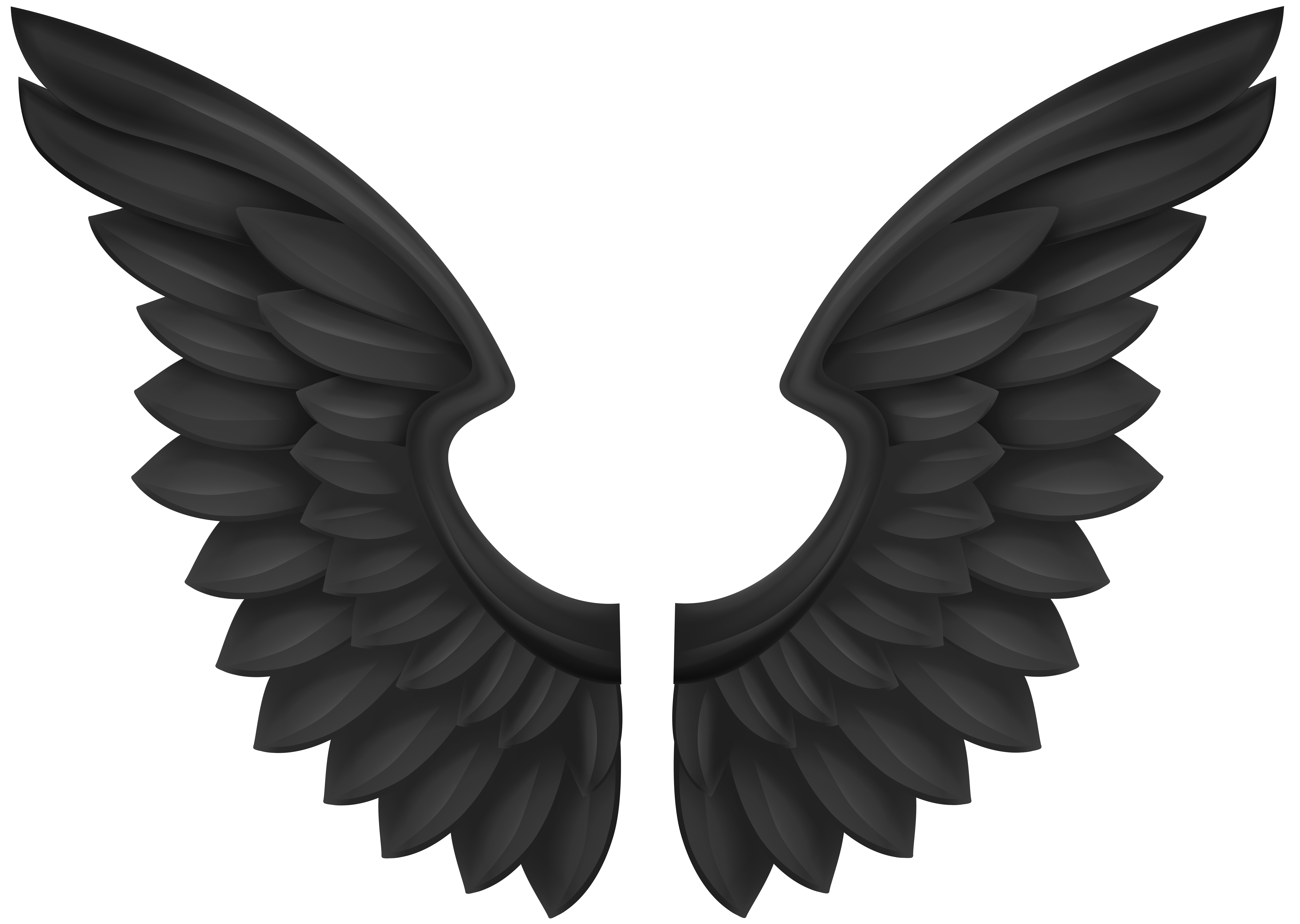 Black wings transparent png. Heaven clipart wing