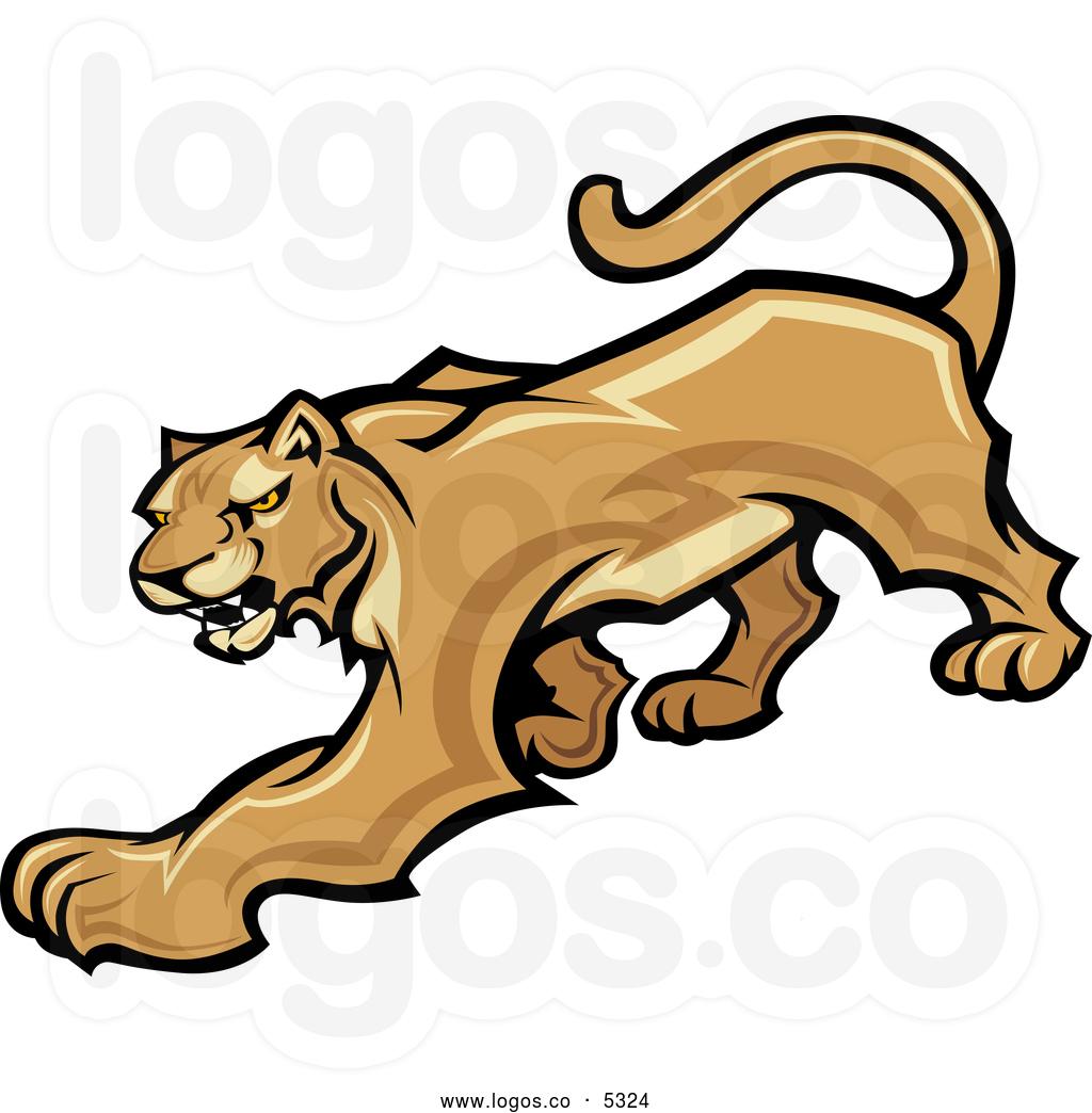 Cougar clipart logo. Of a prowling panda