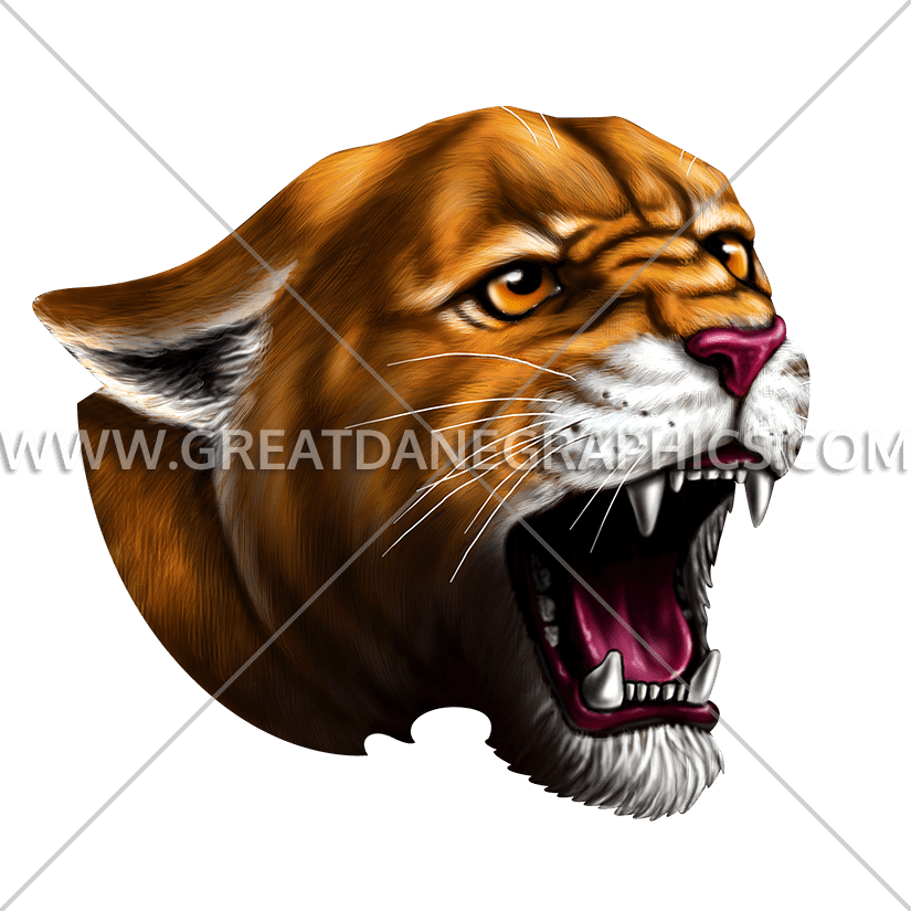 Cougar clipart roar. Production ready artwork for