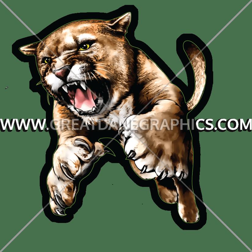 Cougar clipart roar. Full body production ready