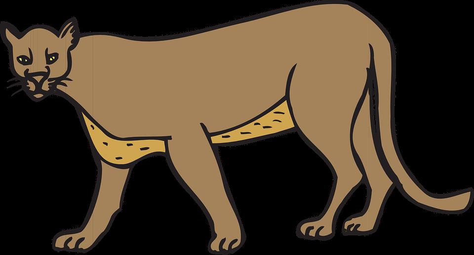 Cougar clipart roar. Panther walking clip art