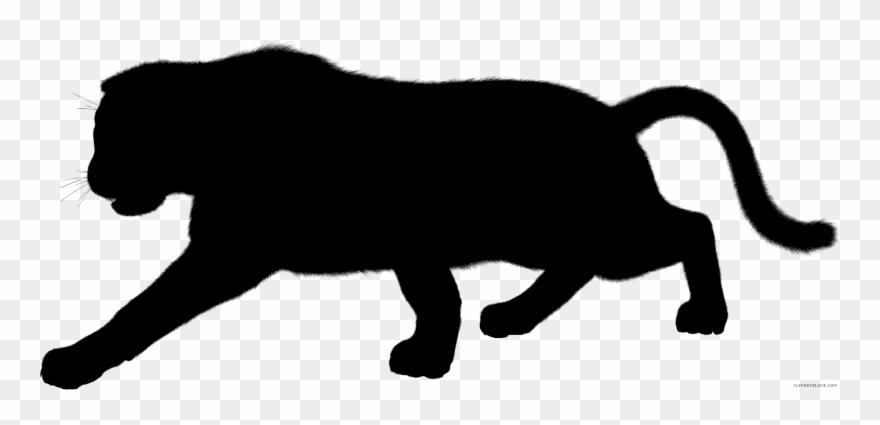 Jaguar clipart panther. Black leopard cougar silhouette