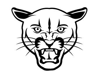 Easy drawing free download. Cougar clipart simple
