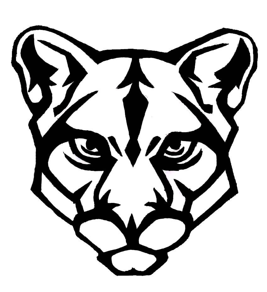 Cougar clipart simple. Easy drawing free download